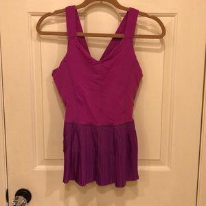 Lululemon Purple Peplum Pleated Workout Top